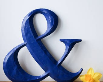 Ampersand Sign Shop letter Royal Blue