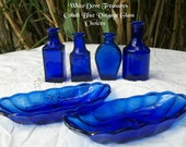 Vintage Cobalt Blue Glass Bud Vase ~ Blue Suncatcher ~ Cottage Chic ~ French Decor ~ Shabby Chic
