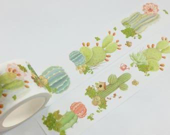 Cactus Plant Washi Tape (30mm X 8M)