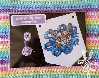 SALE Cats & Crystals DIY Bunting Kit