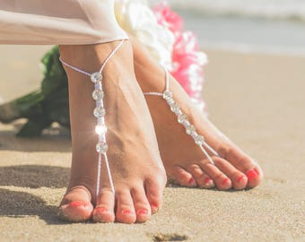 Beach Wedding Shoes- Bridesmaid Gift- Barefoot Sandals- Foot Jewelry- Barefoot Wedding- Beach Wedding Barefoot Sandals- Barefoot Bride Gift