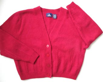 Red cropped sweater   Etsy