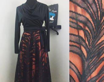 Ladies' Night // 1970s Black and Red Authentic Disco Dress Herman Marcus