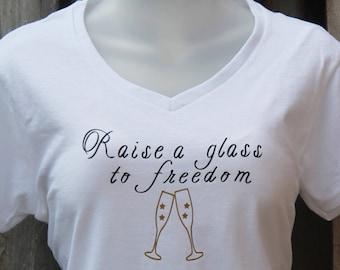 Raise a Glass Hamilton Tank Top Musical Fashion T-Shirt