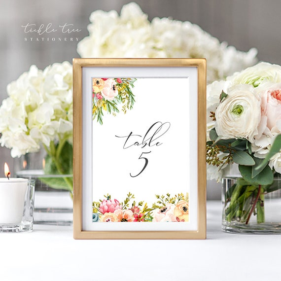 Table Numbers - Mountainside Meadow (Style 13751)