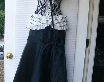 black corset  top and long skirt