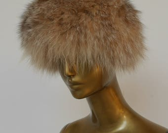 Halston fox fur hat 1970s