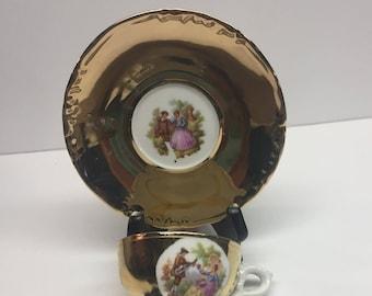 Antique Demitasse Cup and Saucer Karlsbad JWK
