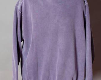 Vintage 80s 90s Big Purple Sweatshirt - Authentic Pigment