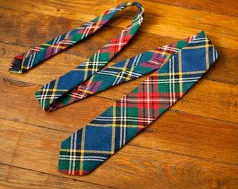 Mens Vintage Plaid Necktie - WESTBURN PLAID