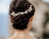 "Haarschmuck, Tiara, Gold Krone, Brautschmuck, Boho Haarband, Headpiece Style  ""Smilla"""