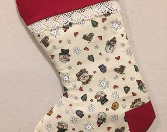 1 Monogrammed Christmas Stocking