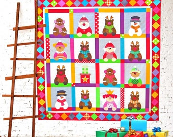 Candy Cane Christmas | Quilt Patterns | PDF Patterns | Quilts | Christmas Quilts | Christmas | Applique Quilts | Kids Quilts