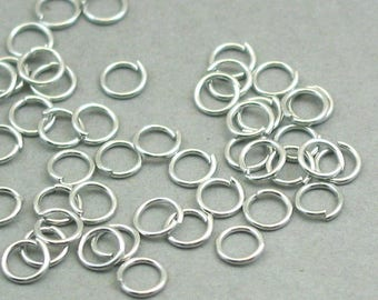 Jump Rings Silver Open 200 pieces 5mm 21 gauge BS00205JRS