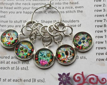 20 Knitting stitch marker rainbow rings