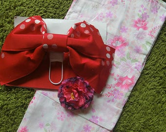 "NEW Japanese Summer Kimono Dress ""Lovely pink Yukata"" #B"