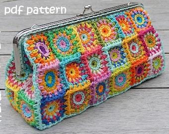 Crochet pattern PURSE 'L' petite squares by ATERGcrochet