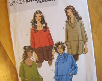 Uncut Butterick 5524 - Misses Tunic and Neck Ring - Size Xsm - Med
