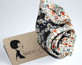 liberty print hand stitched unisex POCKET CIRCLE with contrast outer edge