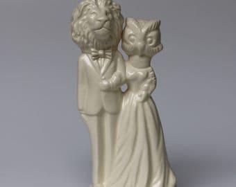 Etsy Handmade Ceramic Cake Topper Melabowed Owl