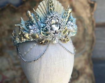 Mermaid Crown, Shell Crown, Seashell Crown, Mermaid Headpiece, Crowns and Tiaras, Seashell Tiara, Mermaid Costume