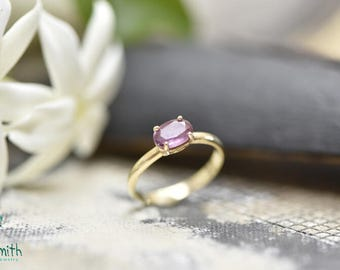 14K Gold Ring with Pink Sapphire