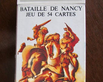 Bataille de Nancy Playing Cards Sealed Deck in Cardboard Box by Grimaud, France 1977