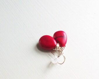 Red Drop Earrings Red Jewelry Earrings Dangle Red Earrings Drop Red wedding Jewelry