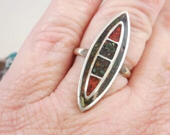 Native American Crushed Turquoise Ring