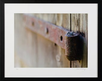 Framed Print, Hinge on Distressed Wood, Framed Wall Art, Photo Wall Art, Home Decor, Giclee Archival Print, Office Decor, Framed Art