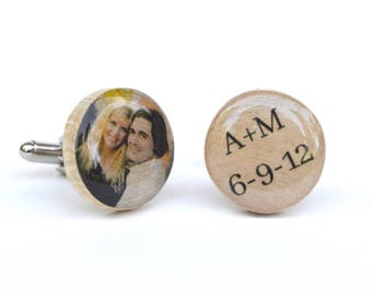 personalized cuff links personalized cufflinks photo cuff links wedding gift 5th anniversary gift photo cufflinks