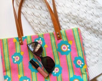 Striped Tote, Summer Handbags, Women Handbag, Shoulder Bag, Striped Handbag, Striped Shoulder Bag, Women Striped Tote, Summer Tote Bag