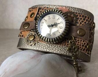 Steampunk Style Cuff Watch