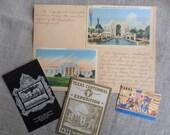 Texas Centennial Exhibition Memorabilia 1936 Vintage Postcards Souvenirs