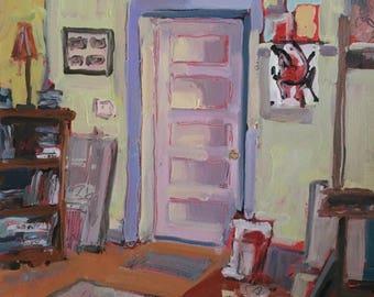 ORIGINAL Art Oil Painting Art Studio Portrait 3 Daily Painting Contemporary  Art