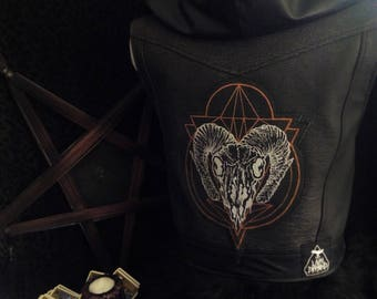 Laura Diamond Zodias sigils leather vest