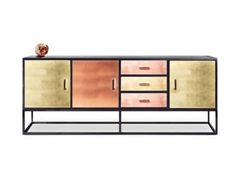 Sideboard Reykjavik. Brass, bronze, copper sideboard. Luxury furniture. Bespoke furniture.