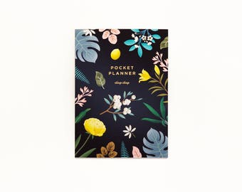 Botanical Pocket Planner - Black