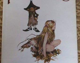 Vintage Book - Faeries, Described and Illustrated by Brian Froud and Alan Lee, Designed by David Larkin, First Edition, Harry N. Abrams 1978