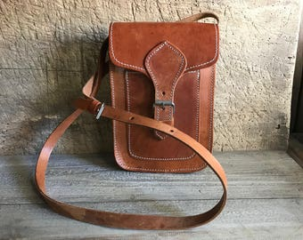 Leather Handbag, Crossbody, Handcrafted Saddle Bag, Made in Greece