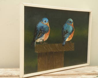 Blue Bird Oil Painting SIGNED