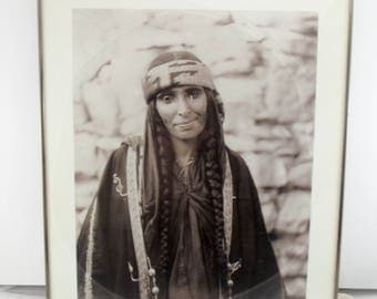 Vintage Photograph / Framed Photograph / Art / Wall Decor / Bohemian / Black and White