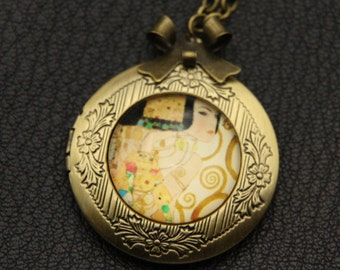 Necklace locket l'attente klimt 2020m