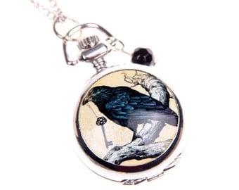 Necklace pocket watch Raven 2222M