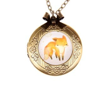 Necklace locket fox 2020m