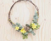 Spring Wreath Natural Floral Hoop Wreath