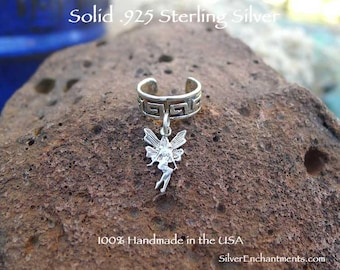Celtic Fairy Ear Cuff in Solid Sterling Silver, Sterling Fairy Earcuff, Solid Sterling .925 Silver - GSP409