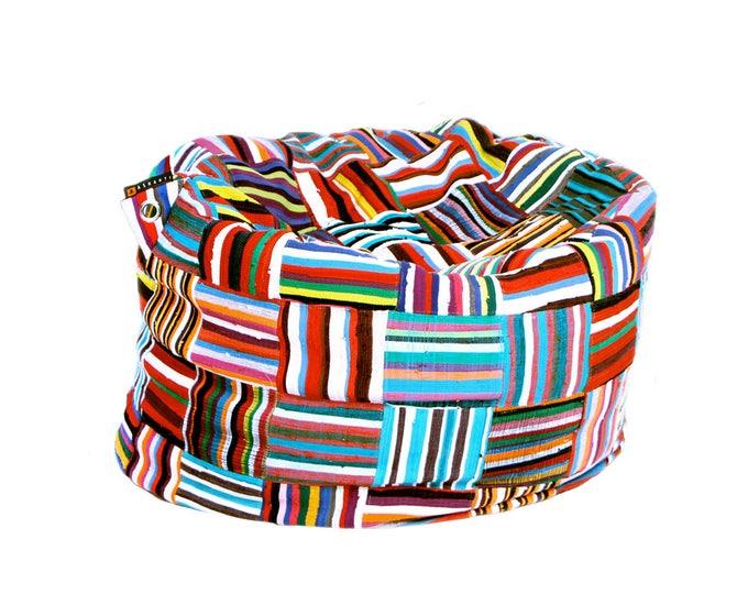 Featured listing image: Handmade Colorful African Beanbag Ashanti 'Bori Bori'