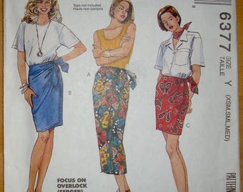 FREE shipping! McCall's 6377 Wrap skirt sewing pattern XS S M UNCUT