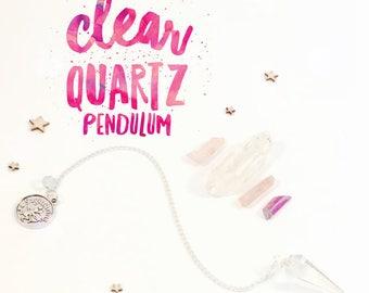 Crystal Quartz Pendulum - Zodiac Collection